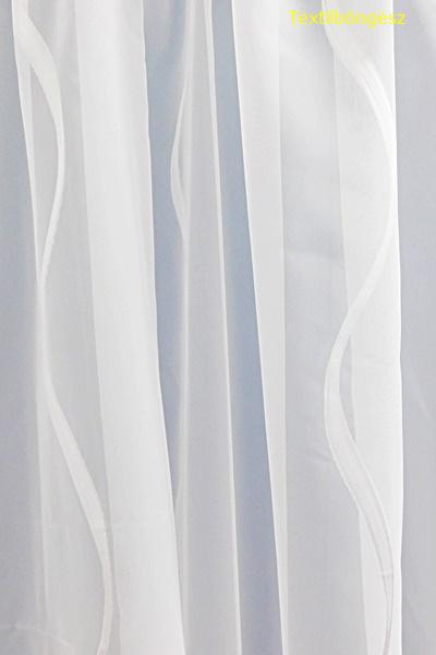 Fehér voila-sable kész függöny fehér nyírt mintával A.C.H./120/Cikksz:01120701