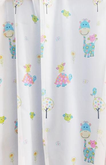 Fehér gyerekmintás voila kész függöny zsiráf B./Cikkszám:0710327