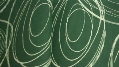 Zöld mintás vászon maradék 22x260cm /Cikksz:1230944