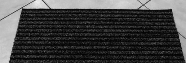 Lépcsőszőnyeg ipari filc bordázott szürke törés nélkül 6020/Cikksz:0532330