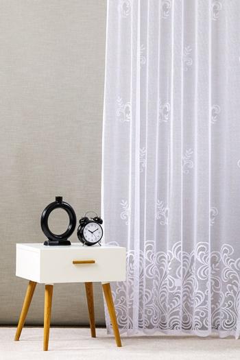 Fehér jaquard vitrage függöny 5603/Cikksz:01122000