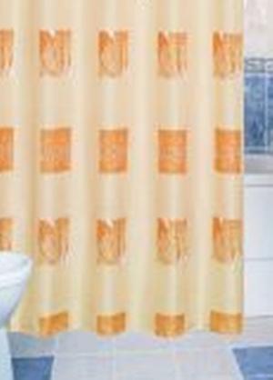 Zuhanyfüggöny beige mintás textil 120x200cm/Cikksz:063017