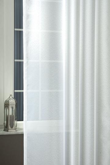 Fehér apró virágos voila kész függöny/Cikksz:01150903