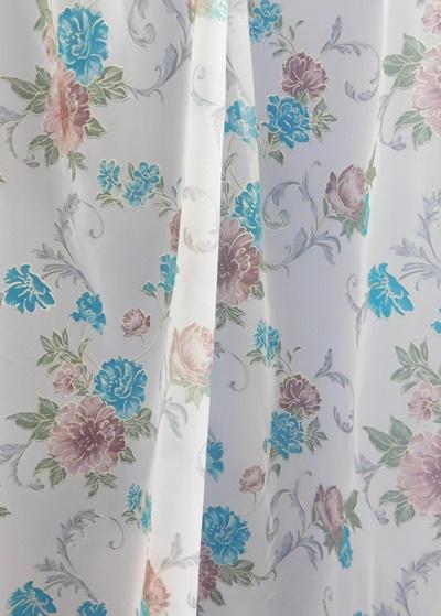 Fehér voila kész függöny piros szürke karikás 180x260cm