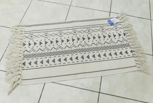 Pamut szőnyeg fekete nyers/Cikksz:0620033