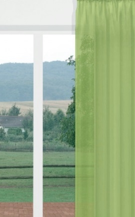 Csíkos voila kész függöny fehér M./270x400cm/Cikksz:01130683