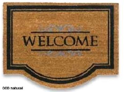 Kókusz lábtörlő Coco Classik Welcome natural 60x80cm/Cikksz:111081
