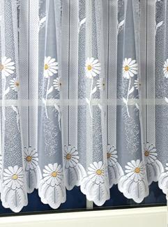 Fehér jaquard vitrage függöny méterben Margaréta /Cikksz:01320013