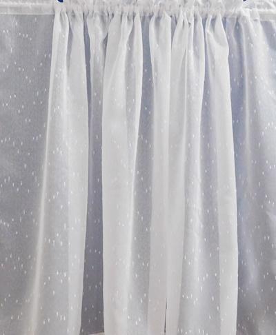 Fehér jaquard vitrage függöny apró mintás/Cikksz:01310381