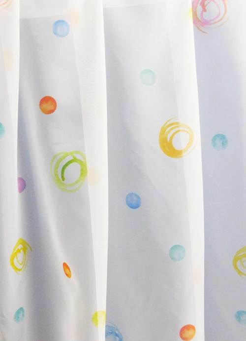 Fehér voila kész függöny színes mintával M./Cikkszám:01151062