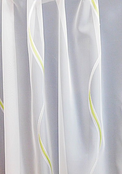 Fehér voila kész függöny barna nyírt mintával A.C.O./180x400cm/R/Cikksz:01122251