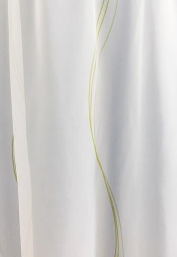 Fehér voila kész függöny piros nyírt mintával A.C.H./060/Cikksz:01122375