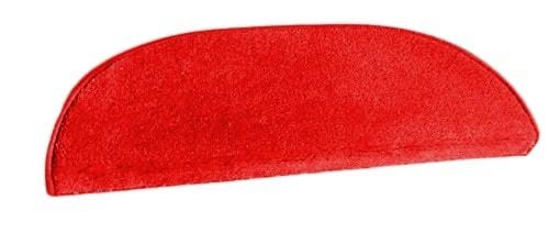 Lépcsőszőnyeg selymes puhaságú 6022 ívelt ILLUSION piros/Cikksz:0532016