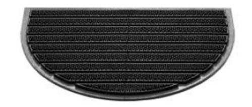 Gumi lábtörlő bordázott 40x60cm C.félkör/Cikksz:111079