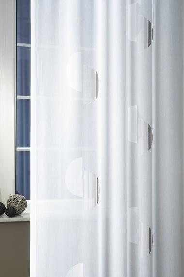 Fehér jaquard vitrage függöny 6941 /Cikksz:01310228