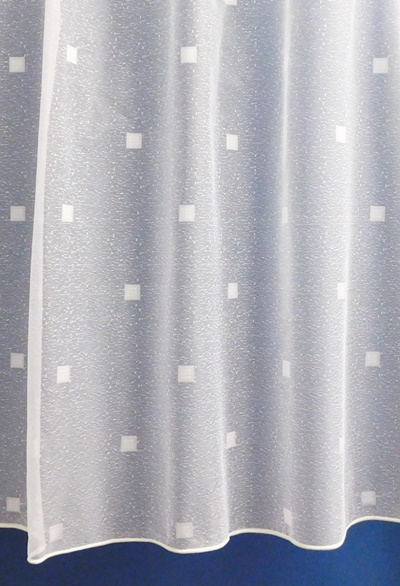 Fehér kis kockás jaquard kész függöny DR6785/180x200cm
