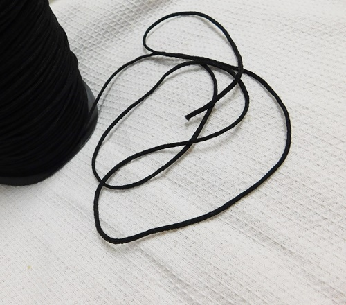 Plüssgumi maszk varráshoz fekete /Cikksz:150052