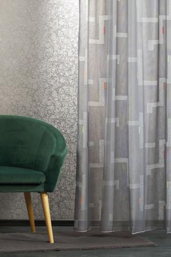 Fehér jaguard vitrage függöny rózsás, horgolt hatású/018/Cikksz:01150956