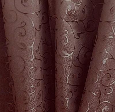 Rózsaszín virágos szatén dekor maradék 150x210cm/Cikksz:1231804