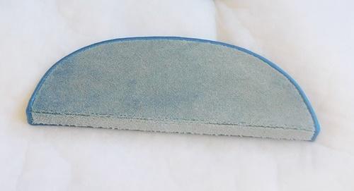 Lépcsőszőnyeg selymes puhaságú 5022 ívelt ILLUSION72 ezüst türkisz/Cikksz:0532249