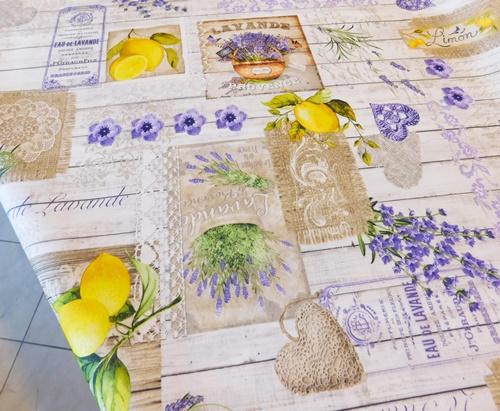 Lila zöld kisvirágos hosszú terítő/Cikksz:01210256