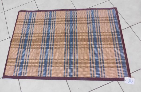 Kockás szőnyeg fonott bambusz 60x90cm/Cikksz:0521053