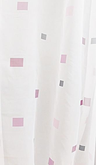 Fehér voila füles függöny szürke nyírt mintával A.C.O./Cikksz:01131110