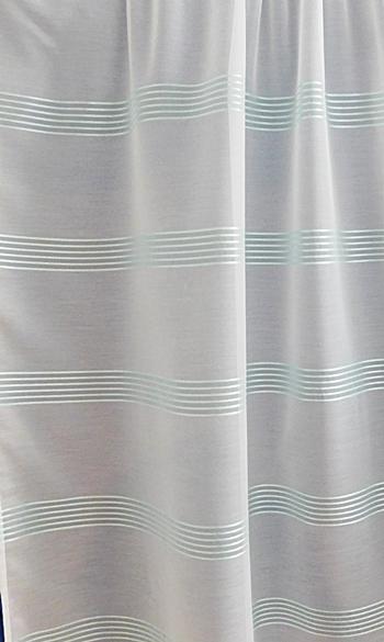 Halvány türkisz csíkos sable kész függöny/018/Cikksz:01122114