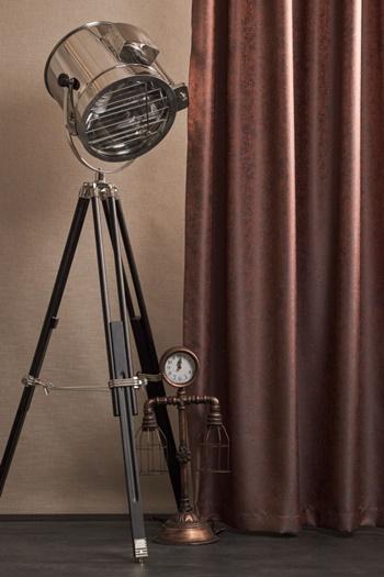 Organza sable világos drapp kész függöny barna mintával/Cikksz:01310256