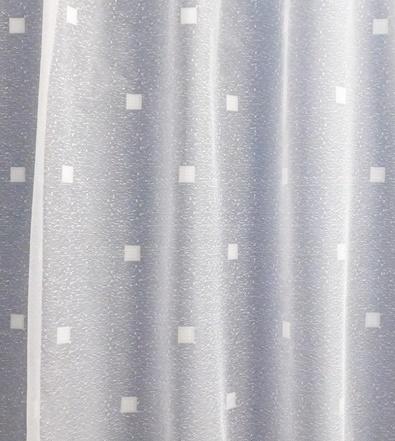 Fehér jaquard kis kockás vitrage függöny 50x160cm /Cikksz:01310122