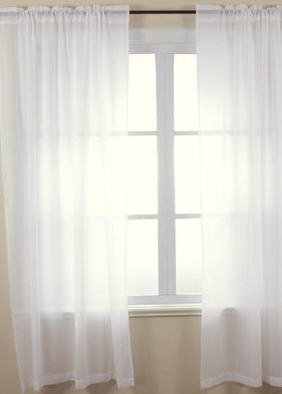 Fehér voila függöny párban/Cikksz:01120086