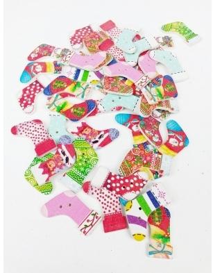 Karácsonyi zokni gomb/Cikksz:150085