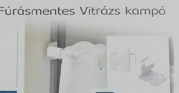 Fúrásmentes vitrázs kampó/Cikksz:0910042