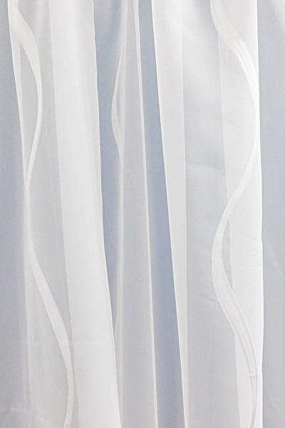Fehér voila kész függöny piros nyírt mintával A.C.H./215x300cm/Cikksz:01130877