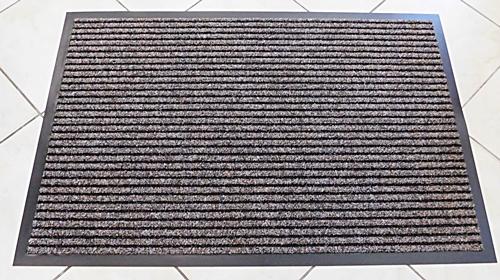 SC.60. gumi hátú bordázott szennyfogó lábtörlő 90x60cm barna/Cikksz:111120