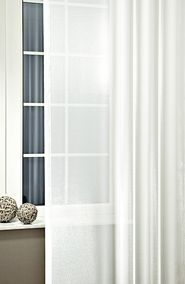 Fehér voila kész függöny kis kockás mintával A.C./Cikksz:01122187