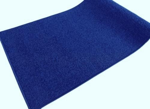 Kék kockás szegett szőnyegTR 60x130cm/Cikksz:0521088
