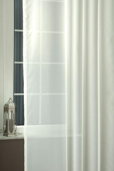 Fehér sable kész függöny kék organza mintával/Cikksz:01120047