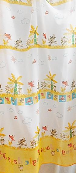 Gyerekmintás voila maradék függöny vidám állatok 120x280cm/Cikksz:0710290