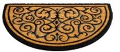 Gumi -kókusz lábtörlő félkör 45x75cm/Cikksz:111095