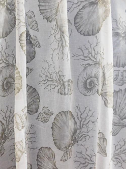 Fehér jaquard vitrage függöny Szürke mintás levélke/Cikksz:01310004