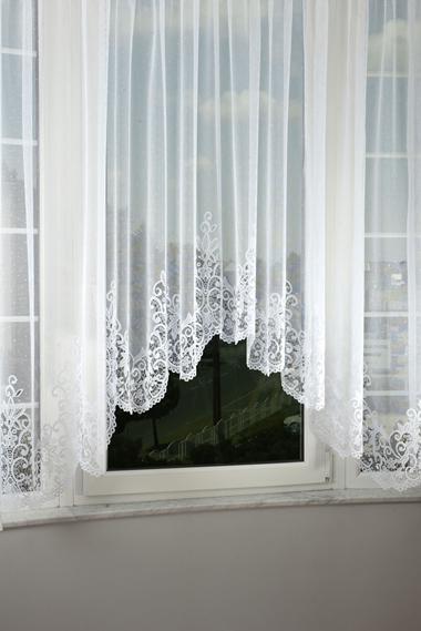 Fehér jaquard panoráma függöny 4304/Cikksz:01121708