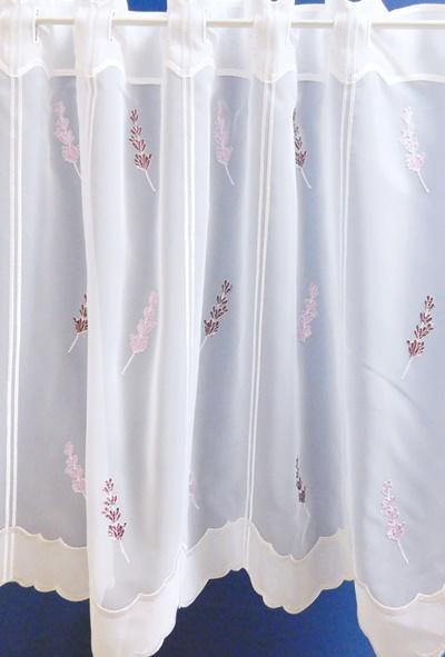 Fehér voila kész függöny zöld nyírt mintával H.A.C./95/Cikksz:0111139