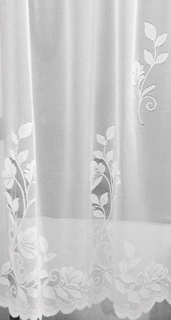 Csíkos fehér voila maradék függöny 50x450cm széles/Cikksz:1240430
