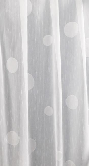 Fehér voila maradék függöny színes Pötyi 140x290cm/Cikksz:1240600