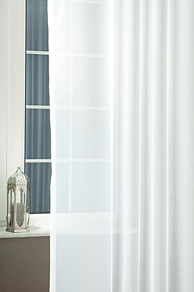 Fehér voila kész függöny piros nyírt mintával A.C.H./250x500cm/Cikksz:01131125