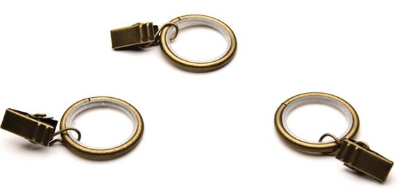 16mm-es karnishoz NÉMA karika csipesszel óarany/Cikksz:0940034