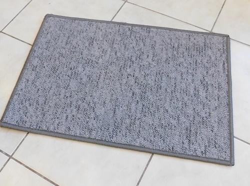 Akciós buklé lábtörlő kis szőnyeg szürke mintás kb:30x40cm