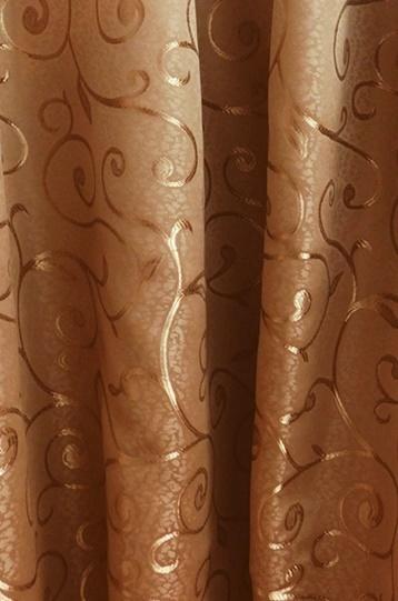 Barna mintás szatén sötétítő függöny maradék 70x115cm/Cikksz:01150444