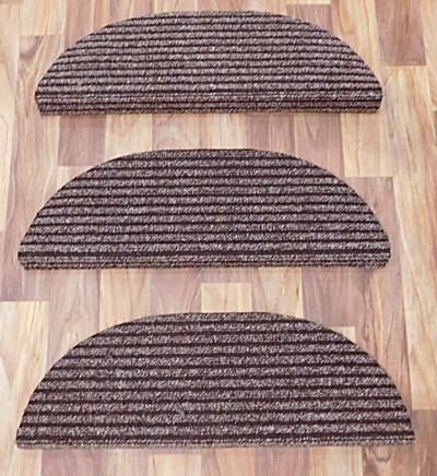 Lépcsőszőnyeg ipari filc bordázott szürkésbarna ívelt 7029/Cikksz:0532230